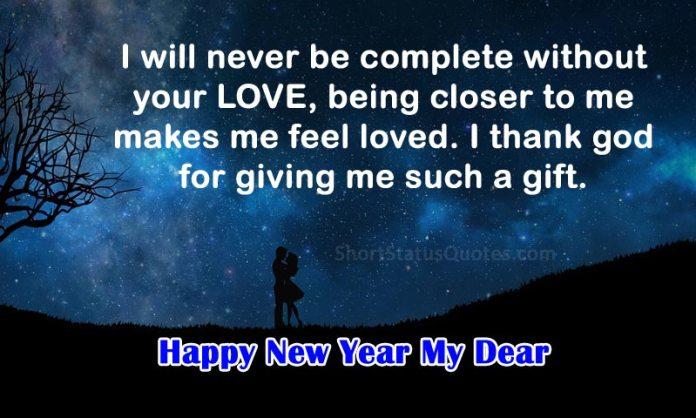 Romantic New Year Status