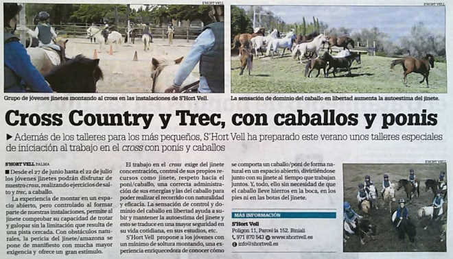 Cross-Country y Trec en S'Hort Vell
