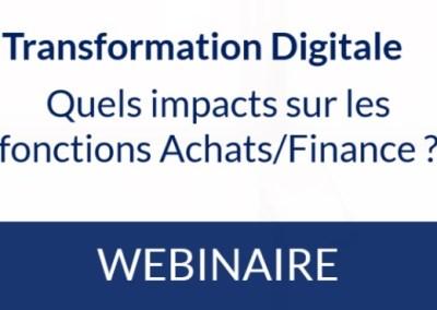Transformation Digitale: quels impacts sur les fonctions Achats/Finance ?