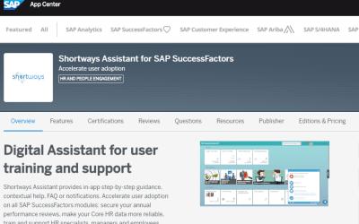 SAP App Center : Shortways désormais référencé !