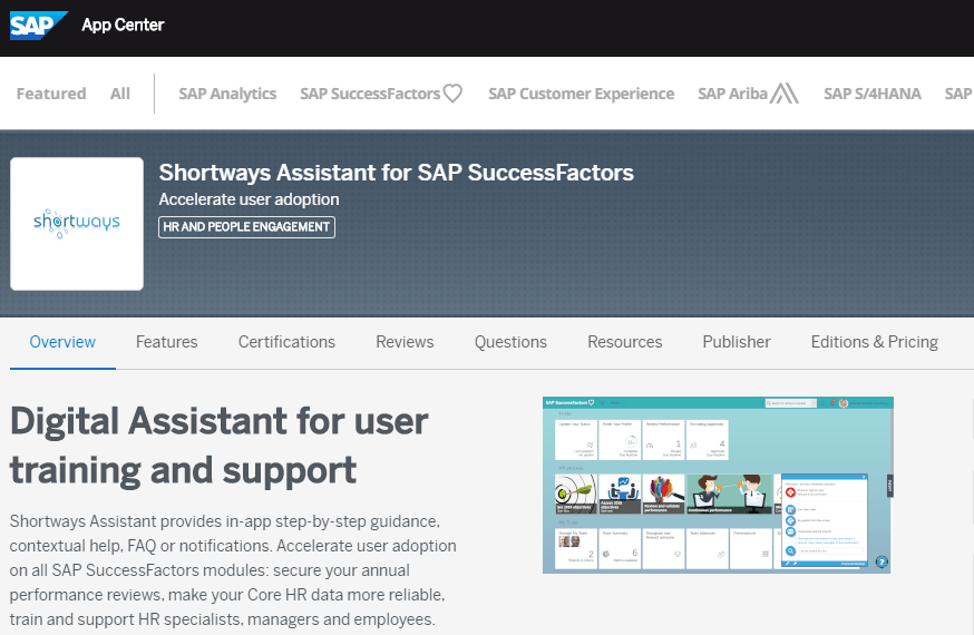 Shortways Assistant Now Available for Purchase on SAP® App Center