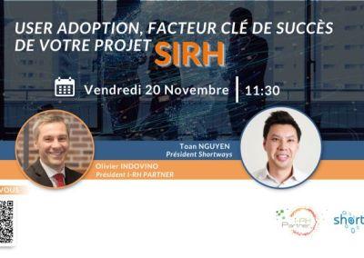 Webinaire : User adoption, facteur clé de succès de votre projet SIRH
