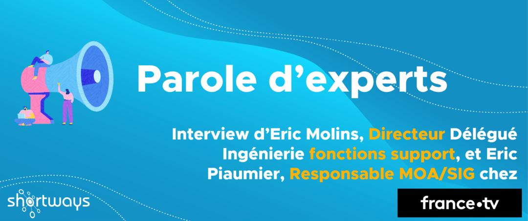 Parole d'experts – Eric Molins, Directeur Délégué Ingénierie fonctions support & Eric Piaumier, Responsable MOA/SIG chez France Télévisions