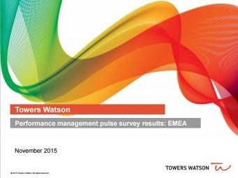 towers watson - performance management EMEA November 2015