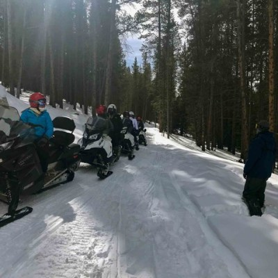 Exploring Copper Mountain, Colorado From A Snowmobile
