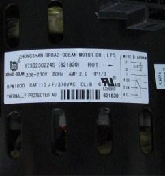 100 nordyne blower motor 621830 [ 950 x 950 Pixel ]