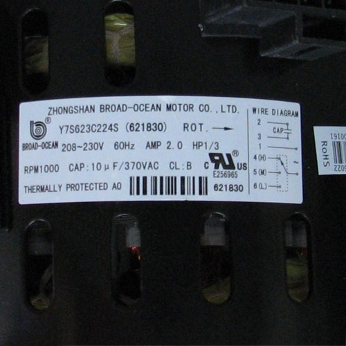 small resolution of 100 nordyne blower motor 621830