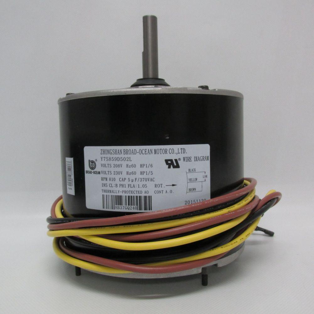 medium resolution of carrier condenser fan motor hb37gq240