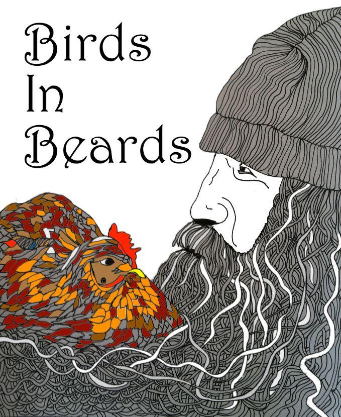 Birds in Beards Coloring Book by Shoshanah Marohn