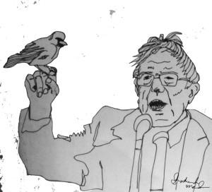 Bernie Sanders and a Sociable Weaver