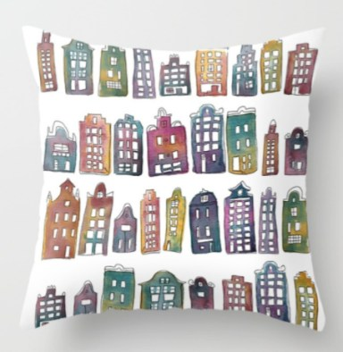 amsterdam houses pillow s6