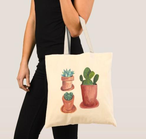 cacti tote bag1 Z