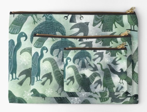 green birds pouches RB