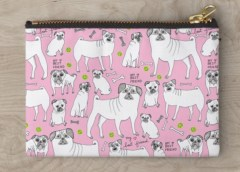 pink pug pouch RB