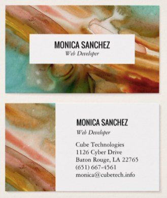 abstract business card design by shoshannah scribbles