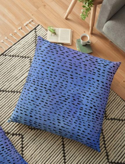 purple dot pillow by Shoshannah Scribbles RedBubble