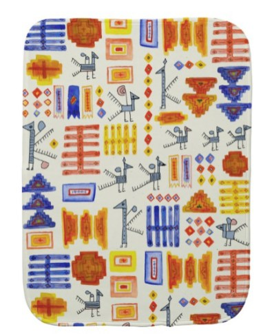 south america burp cloth Z