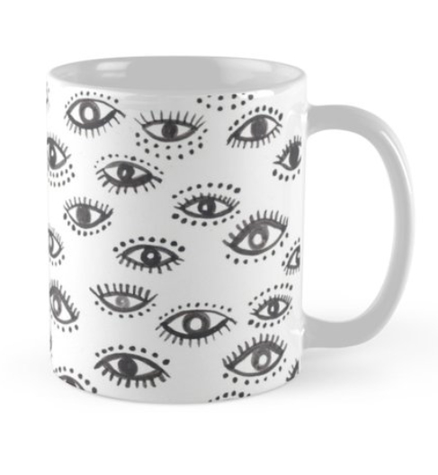 winking eye mug by Shoshannah Scribbles on RedBubble