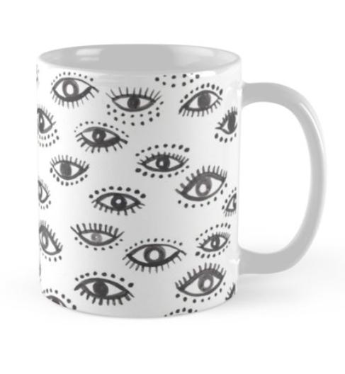 winking eye mug by Shoshannah Scribbles on RedBubble