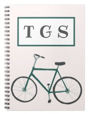 green bike notebook Z