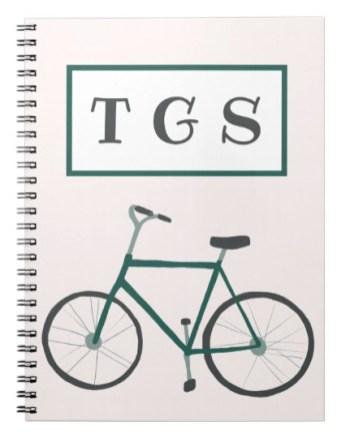 green bike notebook Z