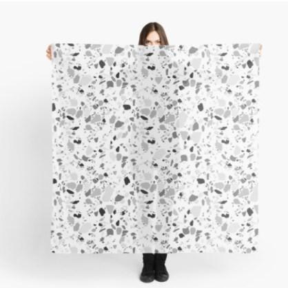 terrazzo black scarf