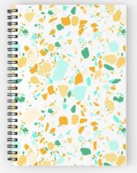 terrazzo green notebook RB
