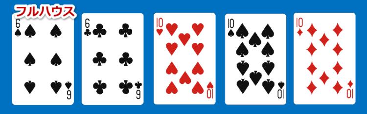 ポーカー役のひとつでフルハウス
