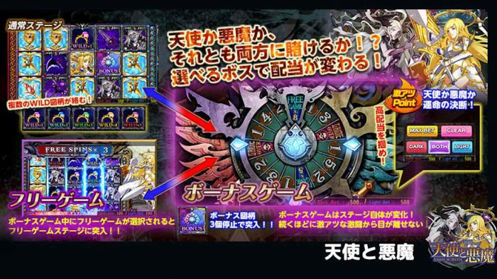 カジノ王国スロットゲーム「天使と悪魔」
