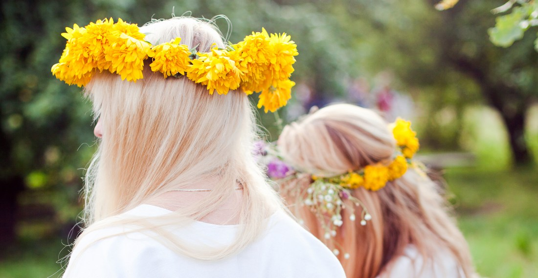 flower crowns in Romuva camp