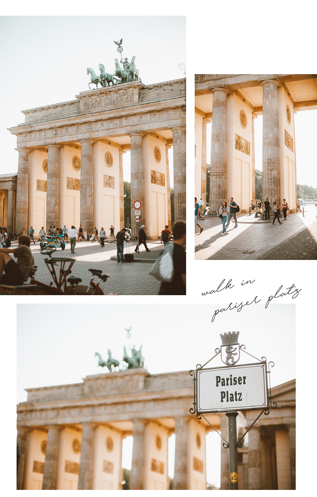 Berlin Pariser Platz collage