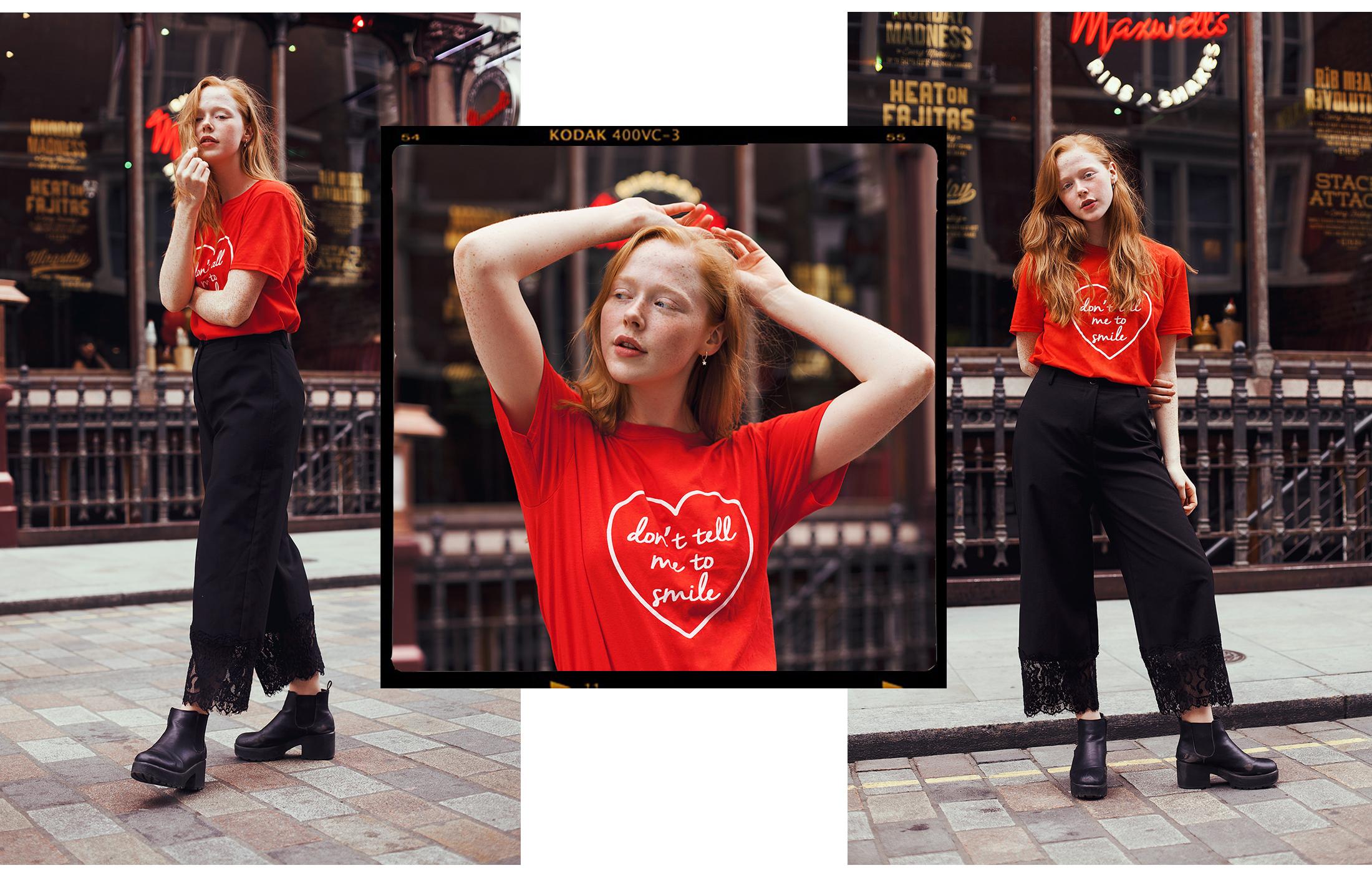 Collage redhead fashion blogger Holly Rebecca White by Ailera Stone