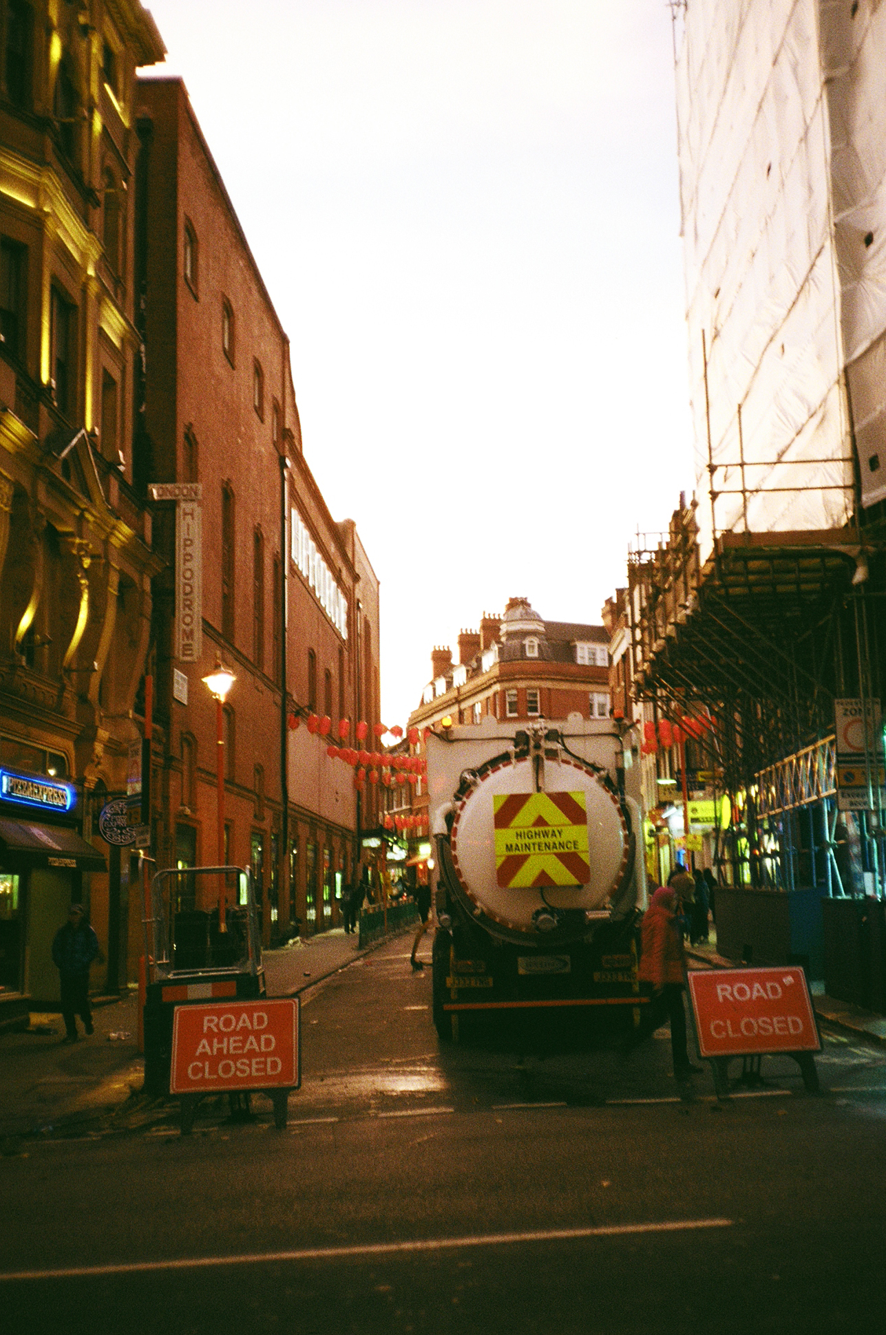 London China Town at sunset 35mm film diary by Ailera Stone