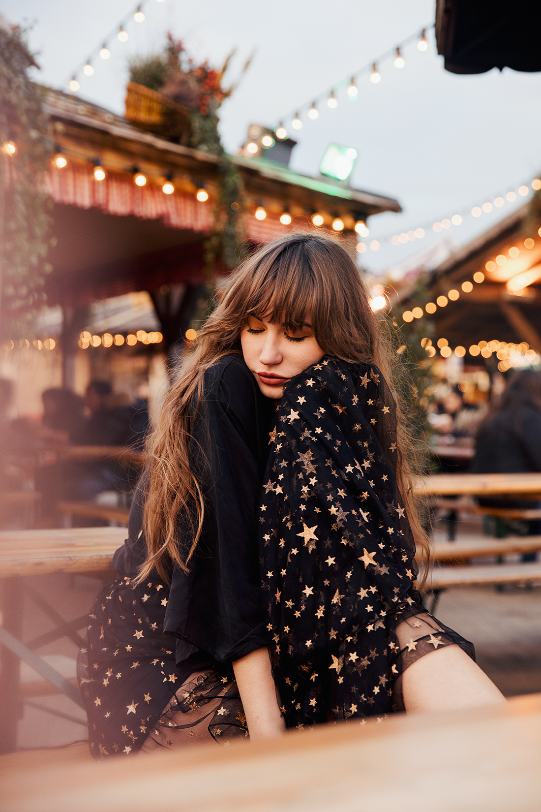 Dreamy portrait of Sara Louise shot in Winter Wonderland by London photographer Ailera Stone