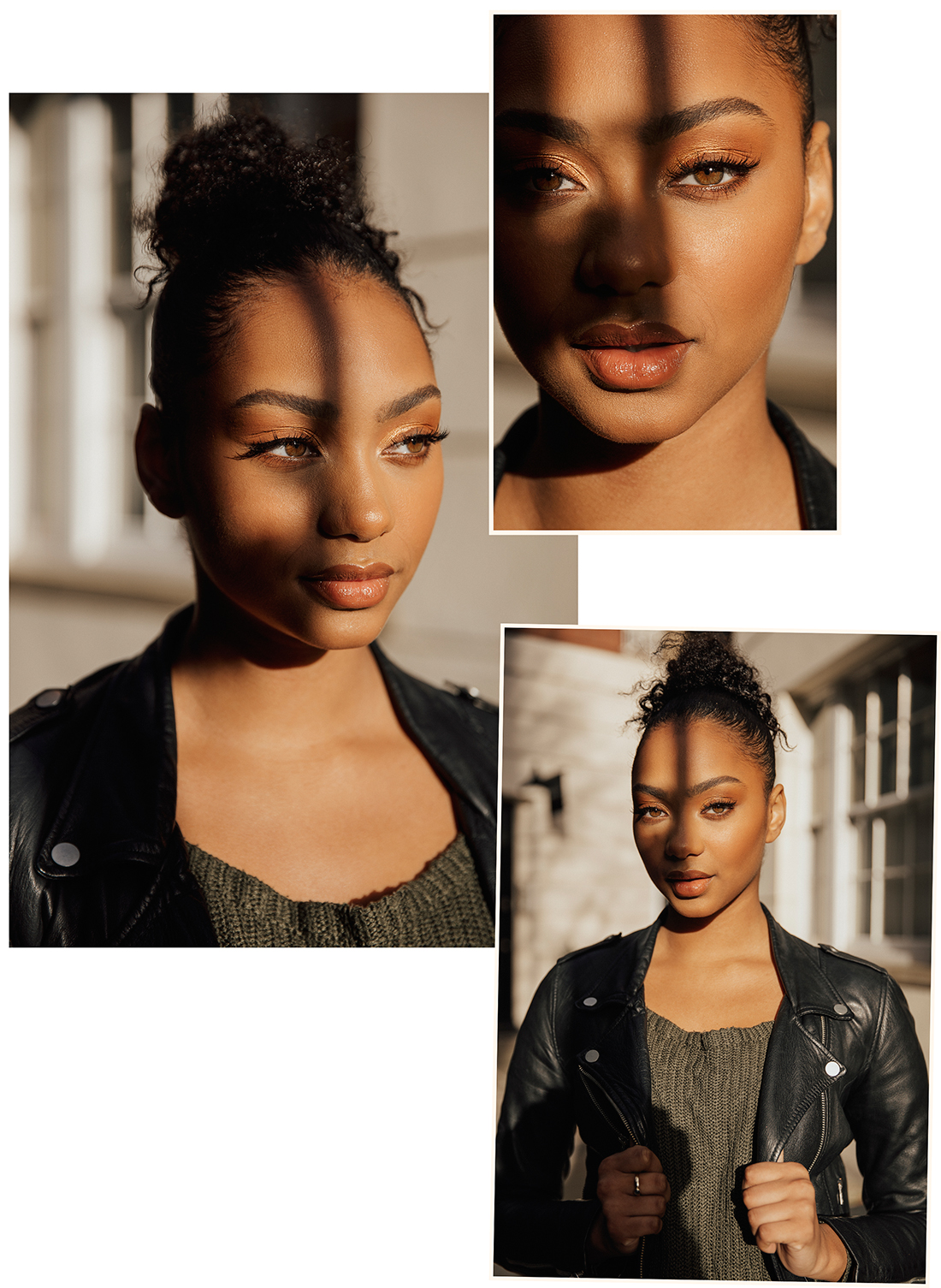 Model portrait shoot using shadows with Maleika @ Profile by London photograher Ailera Stone