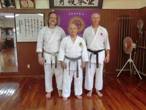 Michael und Jörg in bei Sensei Zenpo Shimabukuro in Okinawa