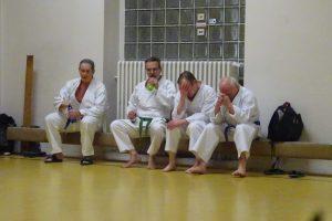 Martin, Robert, Siggi und Karl-Heinz nach der Prüfung 2017