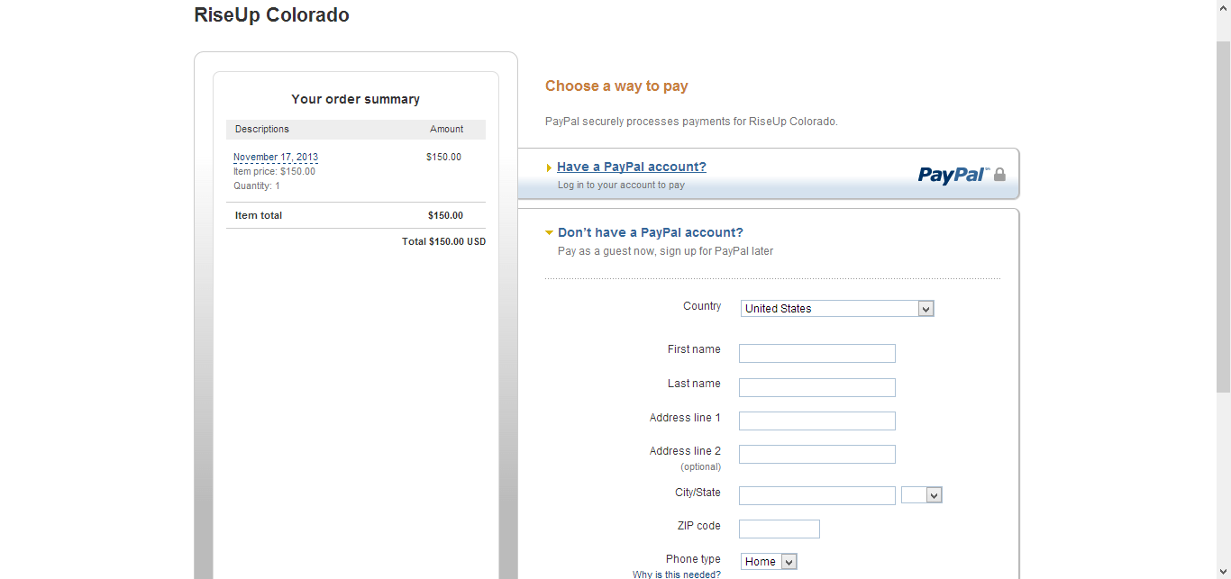 my paypal form not working