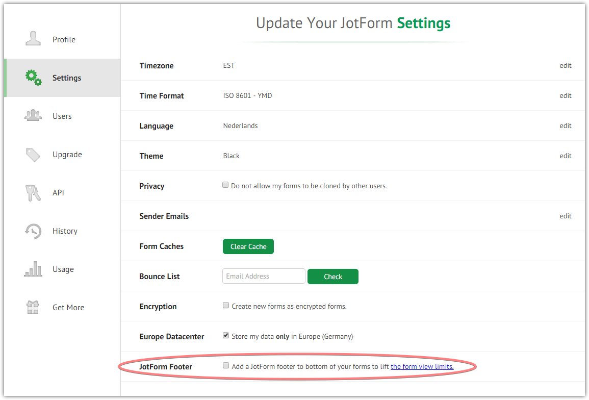 Disabled forms due to form views overlimit