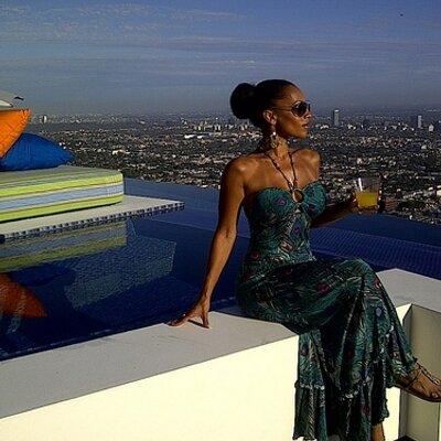 Melyssa Ford in LA pool side