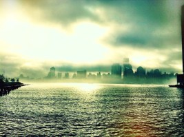Walk by the Hudson on a foggy Morning drinking in the view of #NYC #Iphoneography #photography