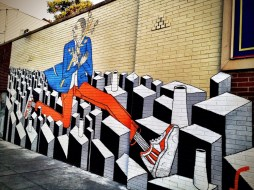 Life is an obstacle course, a 3D street art in historic downtown #jerseycity #iphoneography #photography #streetart