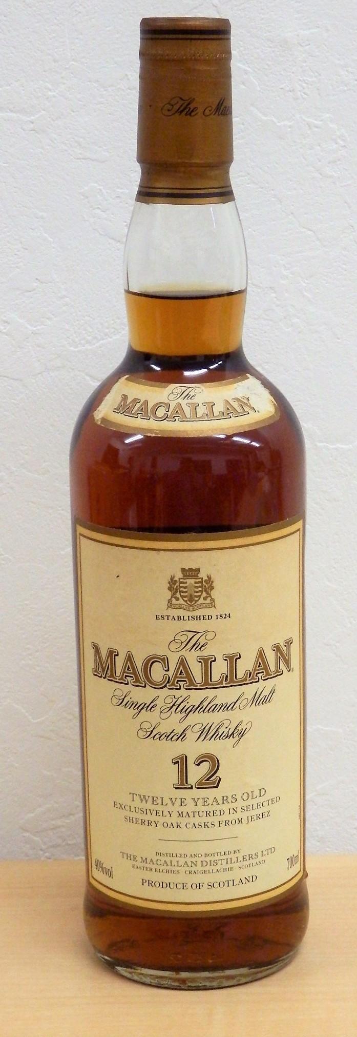 The macallan 12年 旧ラベル