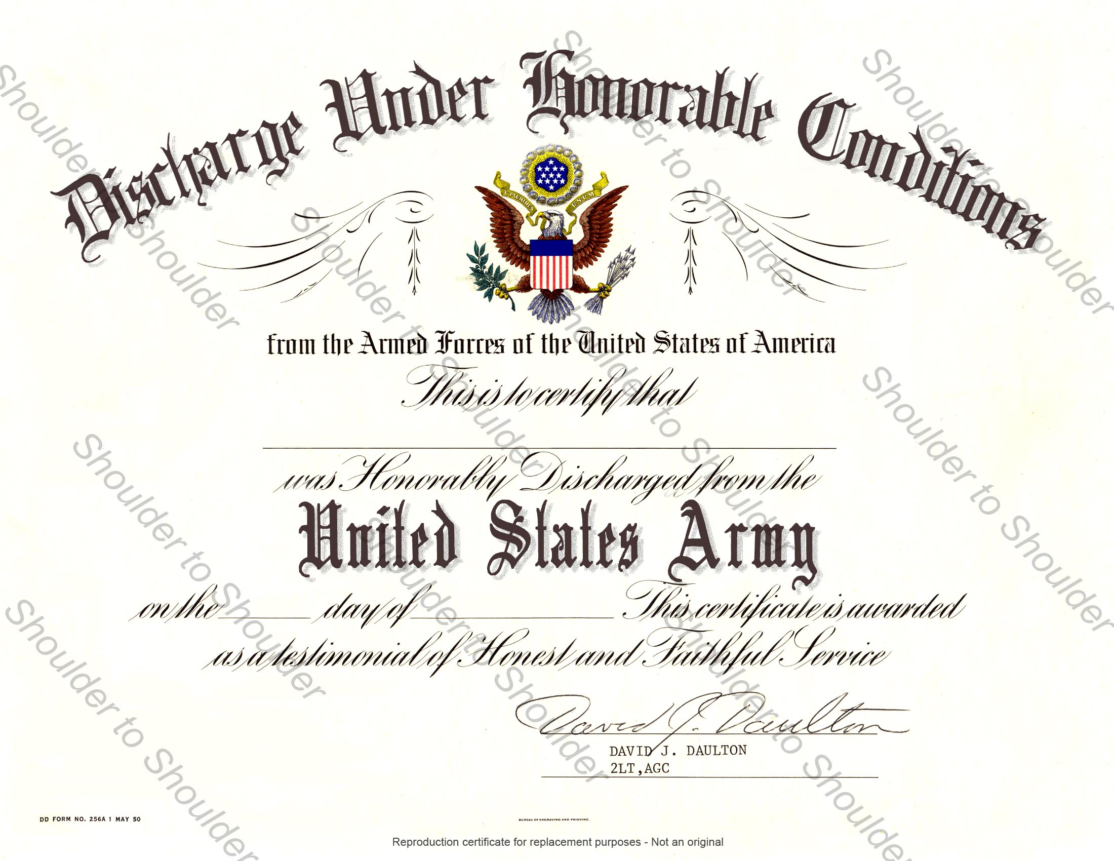Usmc Honorable Discharge Certificate