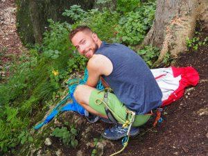 Kenneth in Postavaru climbing area