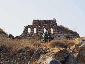 castle ruins on twin island lake bafa