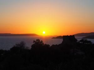 Sunset at lake bafa