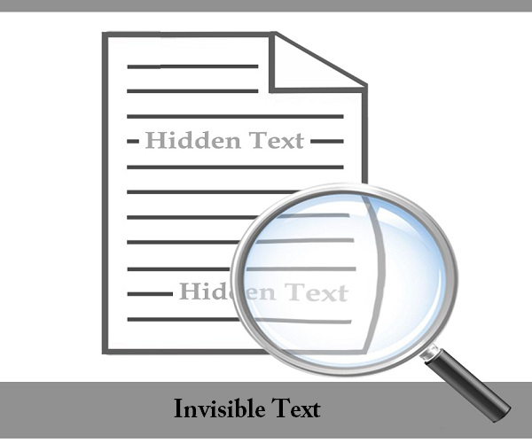 Invisible text blackhat seo