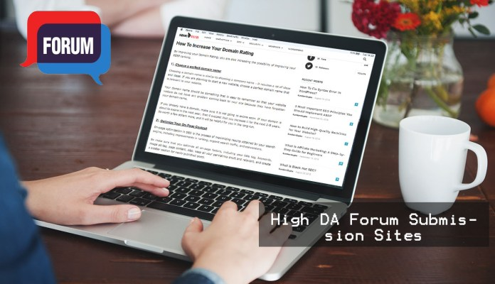 Forum Submission Sites Featured Image