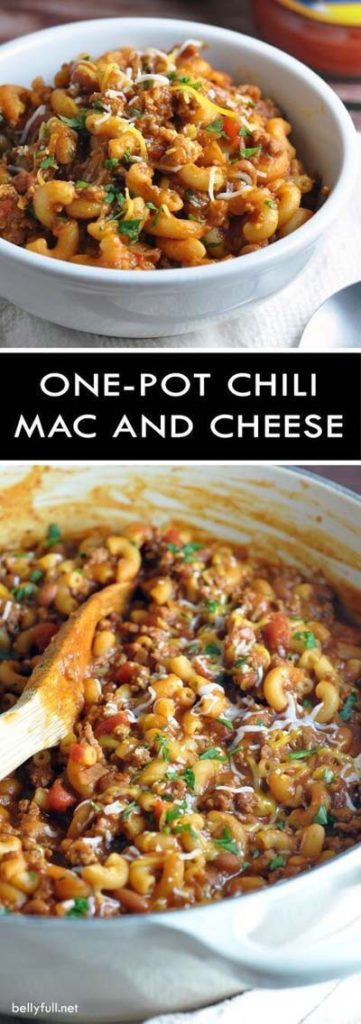 Mac And Cheese Recipes: One-Pot Chili Mac & Cheese